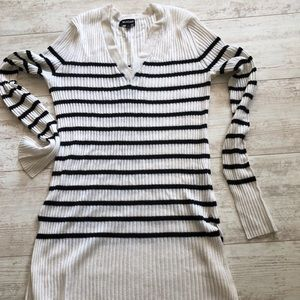 Sweaters - Striped ribbed Naadam sweater